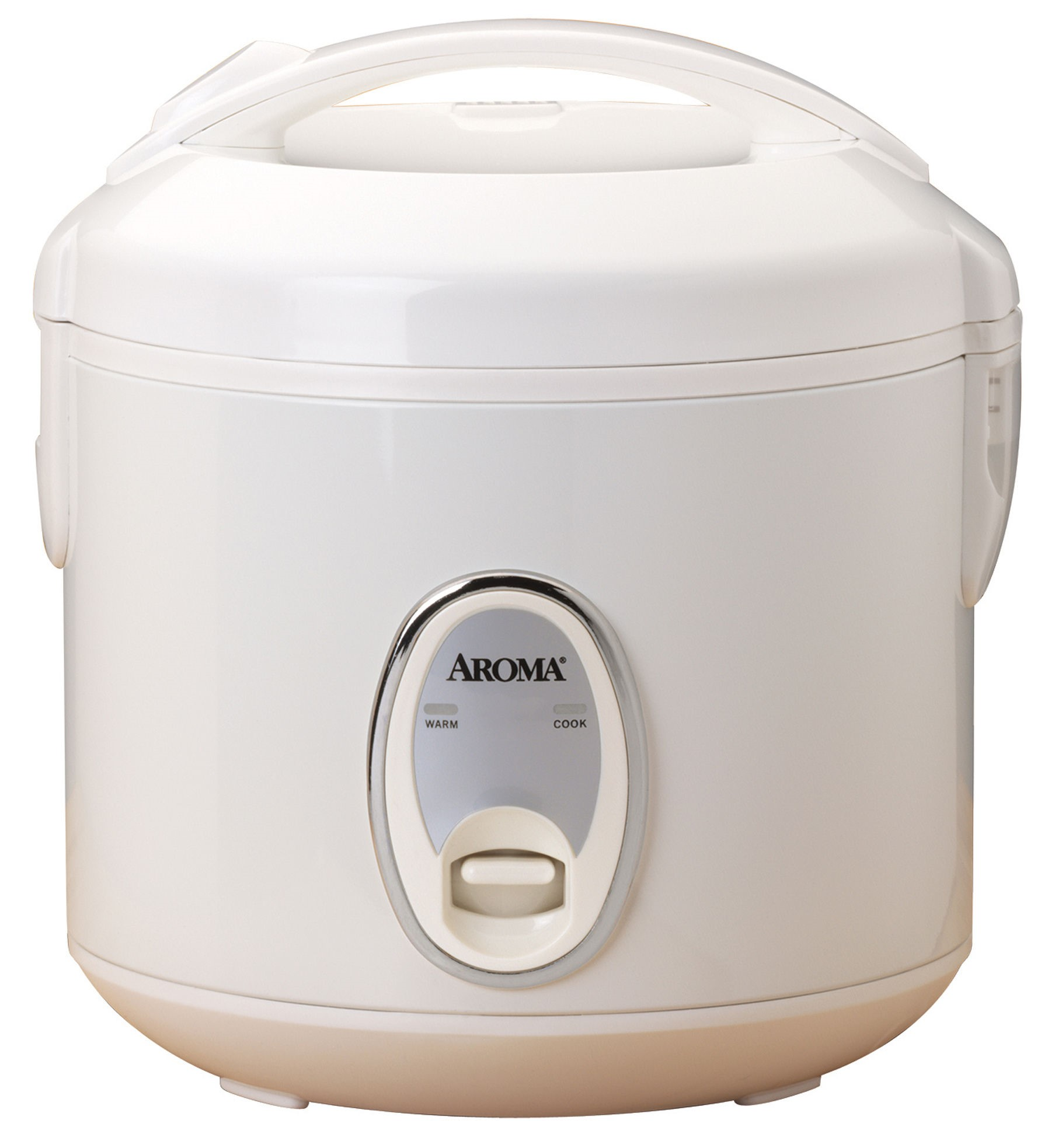 AROMA Rice Cookers & Steamers 4-Cup Cool Touch Rice Cooker White ARC-914S