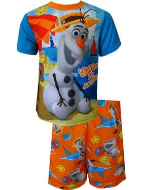 Disney Frozen Olaf Chillin' In The Sunshine Toddler Summer Pajama