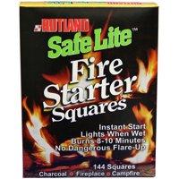 Rutland Safe Lite Fire Starter Squares, 144 squares