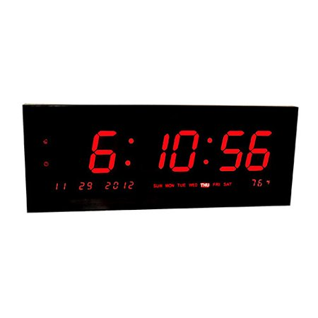 Big Time Clocks Large Calendar Multi Alarm With Seconds Display For Desk Or Wall