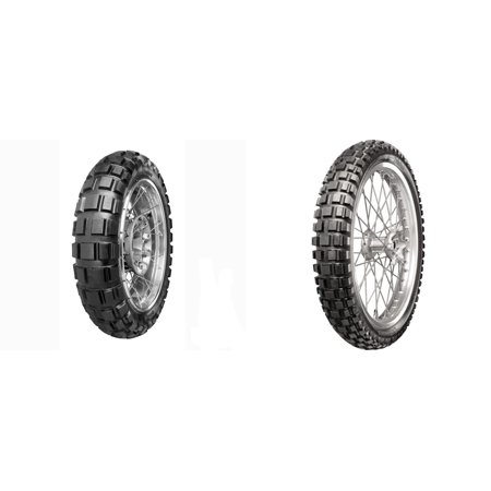 CONTINENTAL Tubeless Twinduro TKC80 Dual Sport Front & Rear Tire Set, 90/90T21 54T & 130/80S17 65T ()