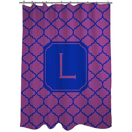 MWW, Inc. Thumbprintz Moroccan Monogram Shower Curtain, Magenta