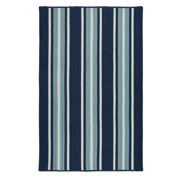 2' x 4' Blue and White Striped Rectangular Area Throw Rug