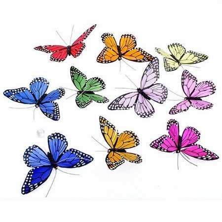 World Buy Rainbow Monarch Butterfly Garland