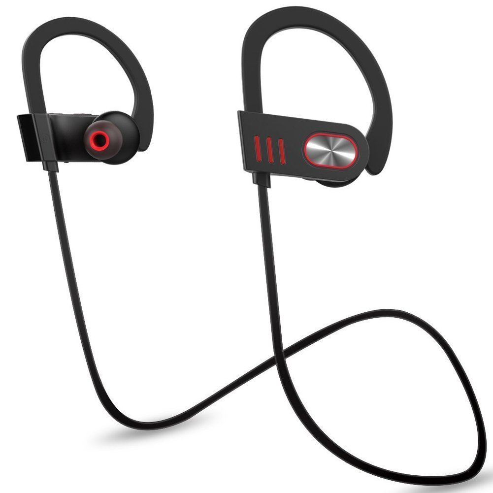 Bluetooth Wireless Headphones Sweatproof & Waterproof Noise Cancelling Sports Earphones In Ear Earbuds