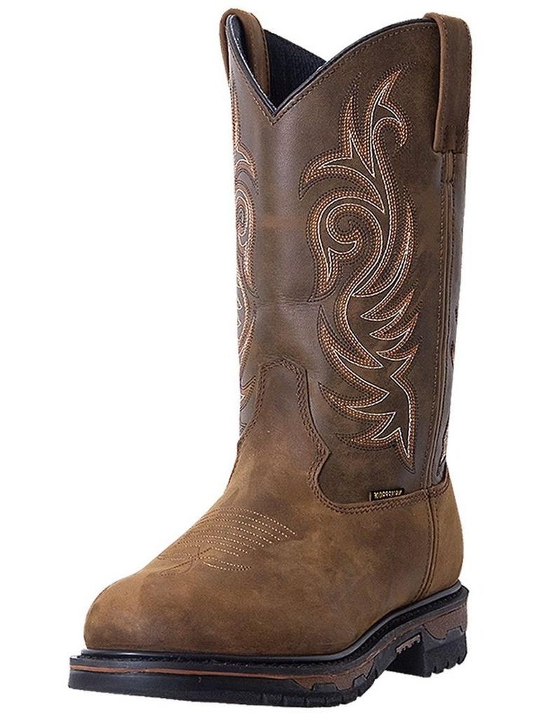 Laredo Work Boots Mens Leather Sullivan Waterproof Steel Toe Tan 68132 by Laredo