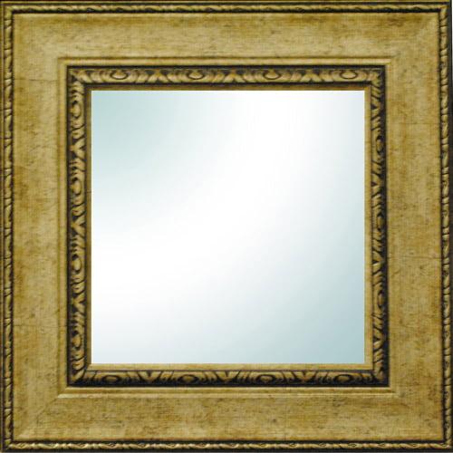 """19"""" x 19"""" Champagne Ornate Square Mirror"""