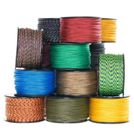 Paracord Planet Micro Cord: 1.18mm Diameter 125 Feet Spool of Braided Cord - Available in a Variety of Colors Made in the