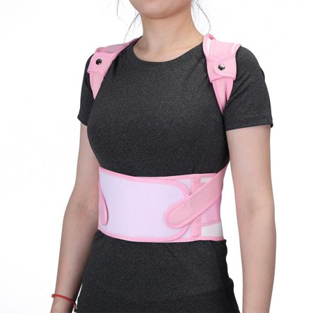 WALFRONT New Pink Back Shoulder Lumbar Waist Supporting Belt Bone Injury Correction Straighten Upper Back Slouching Corrective Prvent (M) - image 6 of 8