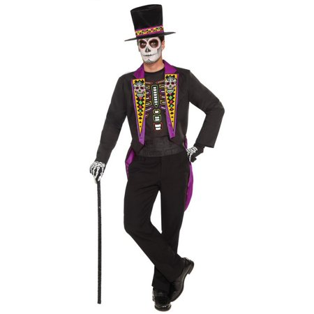 Men's Day Of The Dead Formal Halloween - Day Of The Dead Mens Halloween Costume