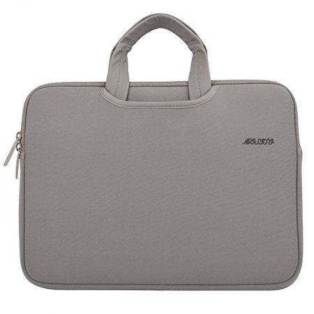Laptop Briefcase, Water Repellent Neoprene Carry Case Cover Sleeve Bag for 11-11.6 Inch Acer Chromebook 11 / HP Stream 11 / Samsung Chromebook 2 / Notebook Computer / MacBook Air, Gray