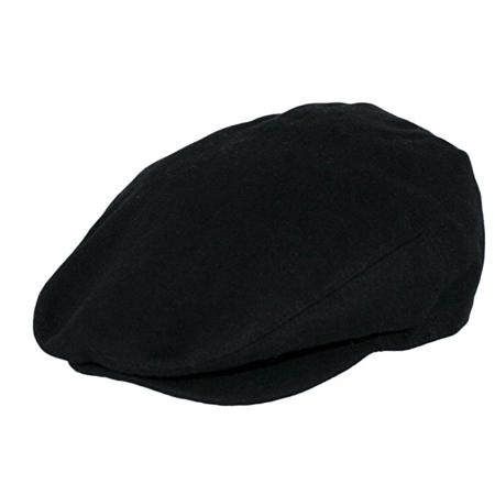 Men's Wool Blend Classic Flat Ivy Newsboy Premium Hat Front Snap Brim w/ Several Colors Available