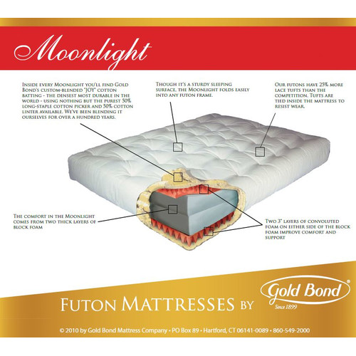 Gold Bond 9'' Cotton and Foam Futon Mattress