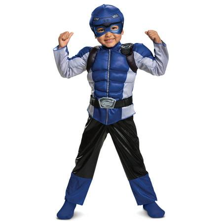 Boys Beast Costume (Boy's Blue Ranger Muscle Halloween Costume - Beast)