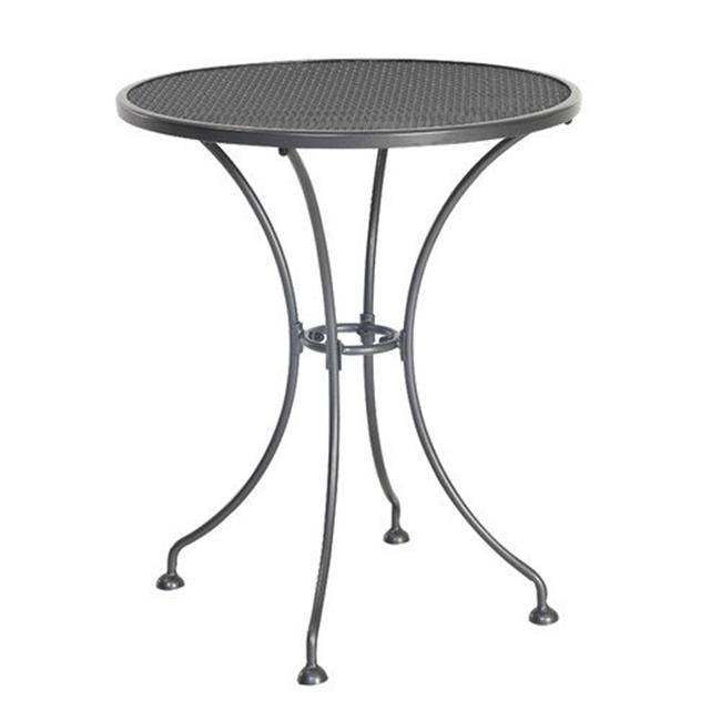 Euro S6524RD-01-MHBN Outdoor Steel Mesh Bistro Table, 24 x 29 in.