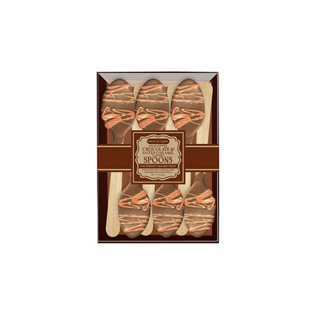 Chocolate Dipped Spoons Caramel & Milk Chocolate 6 Pack, 3 Count