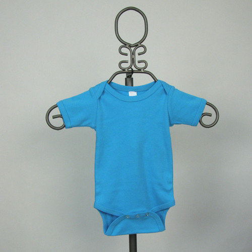 Baby Milano Short Sleeve Infant Bodysuit in Turquoise