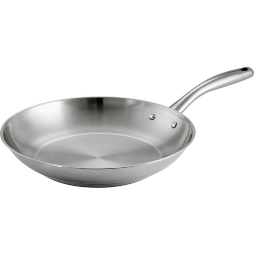 "Tramontina 12"" Gourmet Tri-Ply Base Frying Pan, Stainless Steel by Generic"
