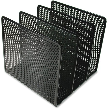 - Artistic Urban Collection Punched Metal File Sorter, Three Sections, 8 x 8 x 7 1/4, Black