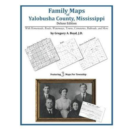 Family Maps Of Yalobusha County  Mississippi
