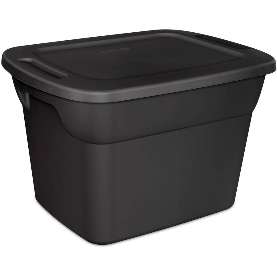 Genial Sterilite 18 Gallon Tote Box  Recycled  Black (Available In Case Of 8 Or  Single Unit)   Walmart.com