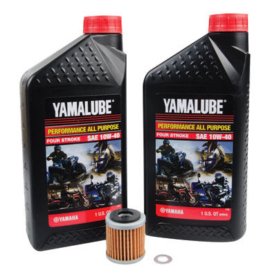 Oil Change Kit With Yamalube All Purpose 10W-40 for Yamaha XT250 2008-2019