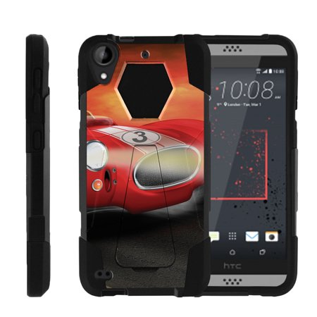 HTC Desire 530 | Desire 630 Shock Fusion Heavy Duty Dual Layer Kickstand Case -  Racecar Cartoon
