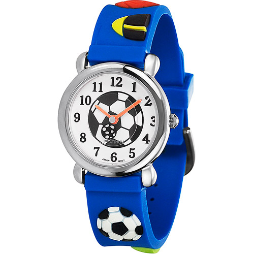 Brinley Co. Boys' Silicone Soccer Watch
