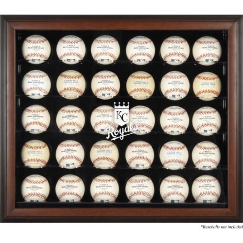 Kansas City Royals Fanatics Authentic Logo Brown Framed 30-Ball Display Case - No Size
