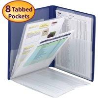 Smead Organized Up Multi Pocket Organizer, Eight Pockets, Letter Size, Black (87722)