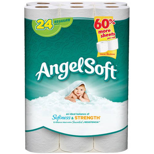 Angel Soft Toilet Paper, 24 Regular Rolls, Bath Tissue