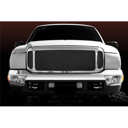 Grille Shell Kit - T-Rex 50571 Aftermarket Chrome Mesh Shell Grille Assembly