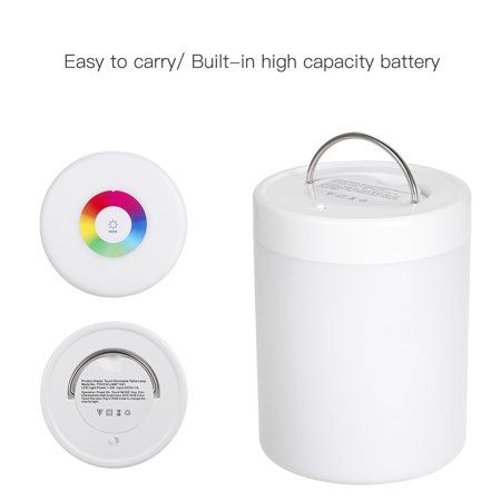 DC5V 4W Touch Control LED Night Light Lamp 3 Levels Brightness Dimmable SOS/ Color Changing Lighting Modes USB Powered Operated Built-in 1200mAh High Capacity Rechargeable Battery Portable for Bedroo - image 7 of 7