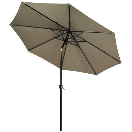 9 Ft Patio Umbrella with Tilt and Crank, Outdoor Market Parasol Sun Shelter Table Umbrella with 8 Sturdy Ribs (Tan) - image 1 of 6