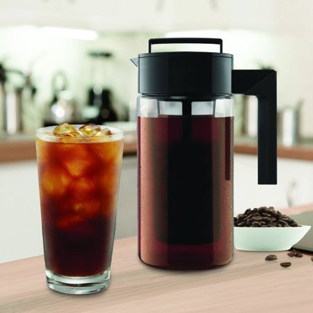 Tuscom 900ML Cold Brew Iced Coffee Maker Airtight Seal Silicone Handle Coffee