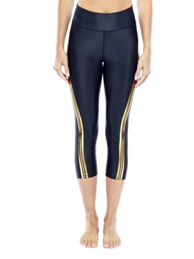f0f3de10b91777 Product Image Women's Active Xersion Metallic Side Stripe Capri Leggings.  Product TitleElectric YogaWomen's ...
