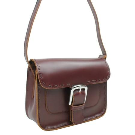 Vagarant Traveler Classic Unique Full Grain Leather Shoulder Bag LS51.RB