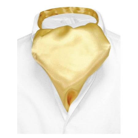 Biagio ASCOT Solid GOLD Color Cravat Men