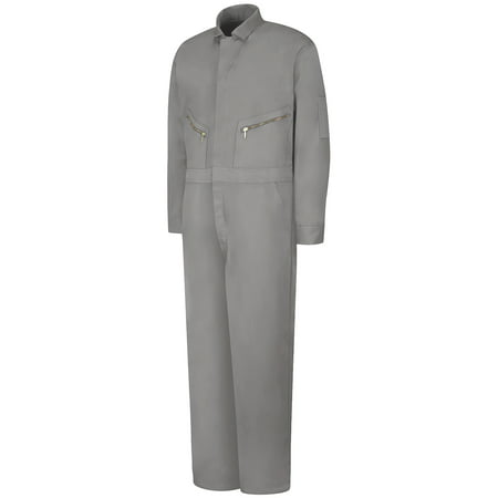 Men's Zip-Front Cotton - Red Velour Coverall