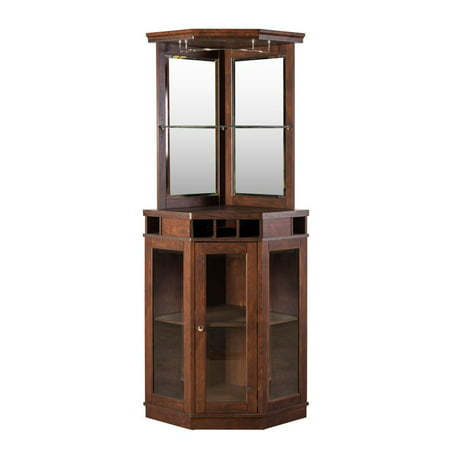 Home Source Corner Bar Unit, Mahogany ()