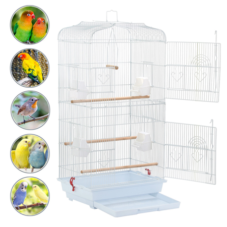 Finch Bird Nests - Large Pet Bird Cage Play Top Parrot Parakeet LoveBird Finch Animals Hanging Cage