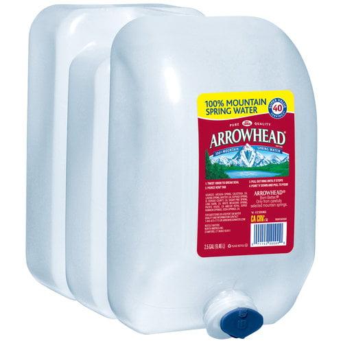 Arrowhead 100% Mountain Spring Water, 2.5 gal