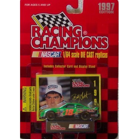 1997 Bobby Labonte #18 Interstate Batteries 1:64 Scale Die Cast Car with Collector Cars and Display Stand, 1997 Racing Champions Bobby.., By Racing - Interstate Car