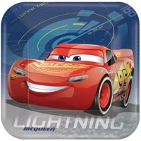"9"" Cars 3 Square Paper Party Plate, 8ct"