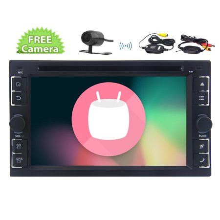 Wireless Camera Included 7Inch Android6 0 Car Stereo Autoradio With 1024 768 High Definition Screen Dvd Player In Dash Double Din Gps Navigator Without Map Card 3D Map Voice Guide Support Bluetooth H