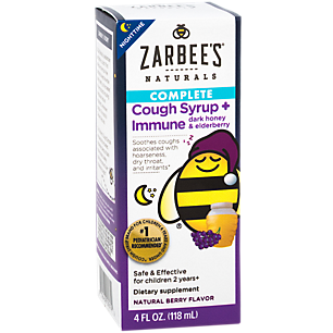 Zarbee S Naturals Children S Nighttime Cough Syrup Immune Support Liquid Natural Berry 4 Fl Oz
