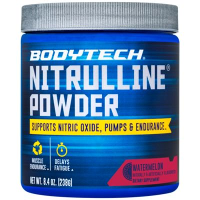 BodyTech Nitrulline  Nitric Oxide Potentiator, Pumps  Endurance to Help Energize  Nourish Working Muscles, Watermelon (8.4 Ounce
