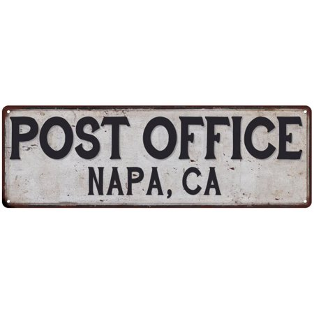 NAPA, CA POST OFFICE Vintage Look Metal Sign Chic Retro 6182479 - Halloween Store Napa Ca