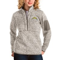 Los Angeles Chargers Antigua Women's Fortune Half-Zip Pullover Jacket - Oatmeal