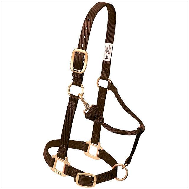 "BROWN PINK WEAVER WESTERN TACK ADJUSTABLE HORSE HALTER 1"" AVERAGE HORSE"